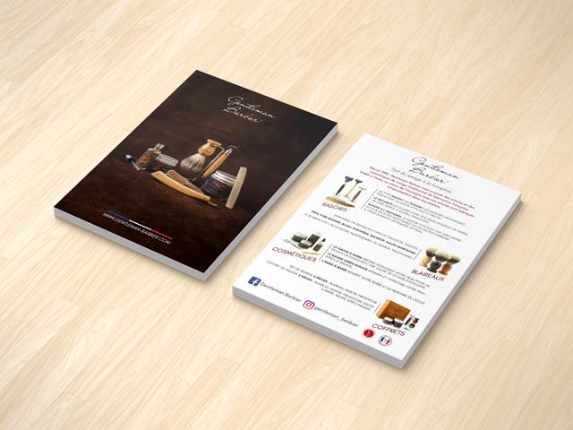Création flyer Gentleman Barbier