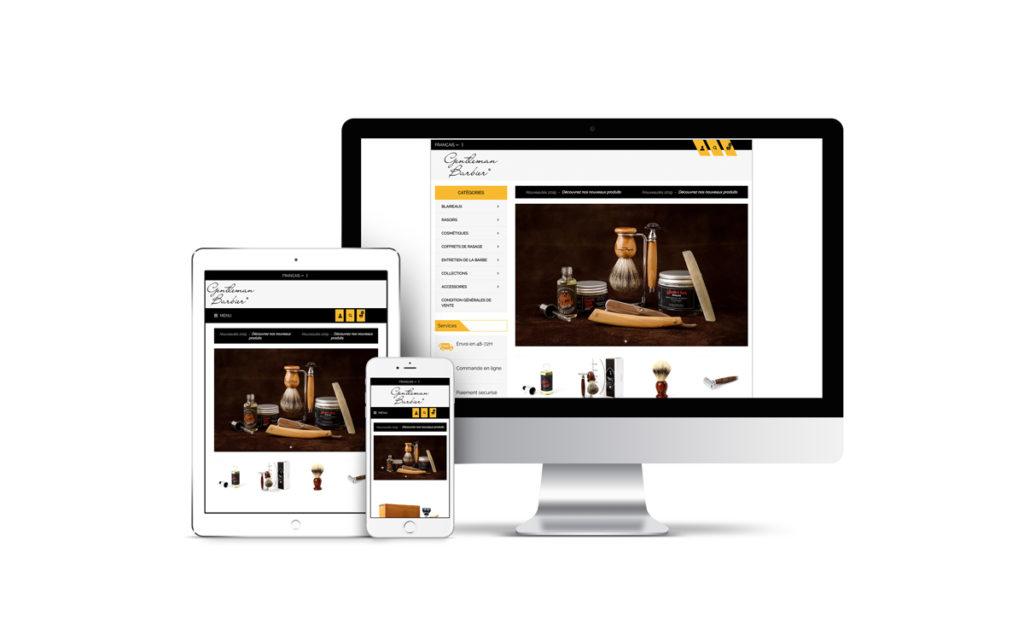 Gentleman Barbier catalogue en ligne rasage